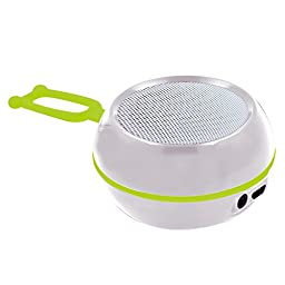 KIROBO Rechargeable Wireless Bluetooth Mini Portable Speaker Outdoor and Indoor with FM radio TF Card Slot - White