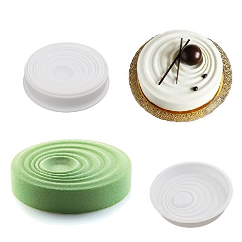 Round & Waves Design Silicone Mousse Cake Mould Cake Mold Silicone Flexible For Mousse Cake Breads Brownie Cornbread Cheesecake Dessert (Microwave 13 Deep compare prices)