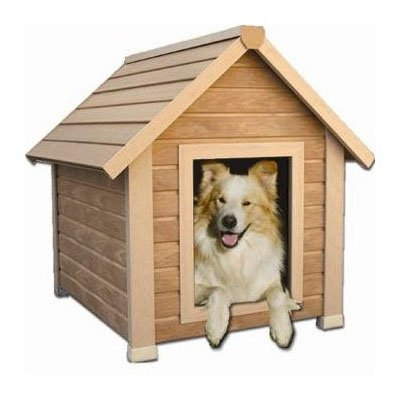 ecoConcepts Insulated Bunkhouse Dog House Extra Large Natural 44 inch x 35 inch x 38 inch