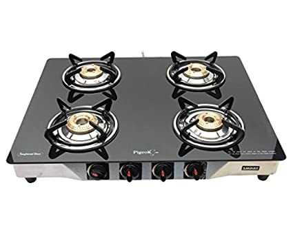 Pigeon Blackline Stainless Gas Cooktop (4 Burner)