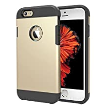buy Iphone 6S Case, Iphone 6 Case Teksonic® [Hybrid Tough] [Gold] Dual Layer Protective Armor Case For Iphone 6S/Iphone 6 (4.7-Inch)-Iphone 6S Cover With Shock Absorptive Inner Layer Hard Back Case