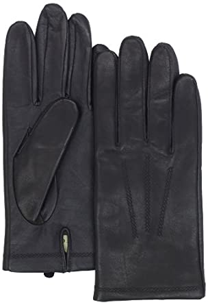 UR Men's Tech Leather Cashmere Glove, Black, Medium