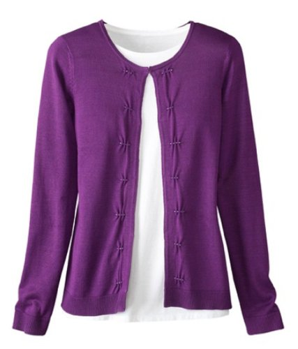 coldwater-creek-beaded-tucks-cardigan-bright-plum-extra-small-4