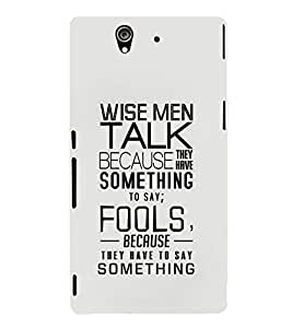 EPICCASE Wise Men Mobile Back Case Cover For Sony Xperia Z (Designer Case)