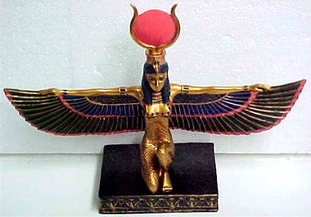 Egyptian Isis Moon Goddess Statue Fertility Deity