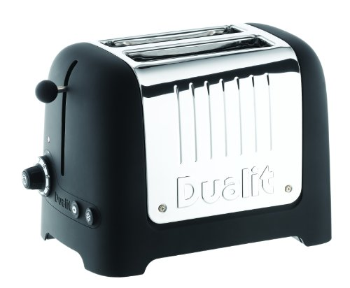 Dualit 25375 Lite 2-Slice Toaster, Soft Touch Black