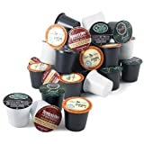 41K3P3RI6jL. SL160  Keurig Coffee Connoisseurs Variety Pack 96 K Cups includes Green Mountain Nantucket, Tullys French Roast, Newmans Own Special Blend, and Caribou Coffee Blend