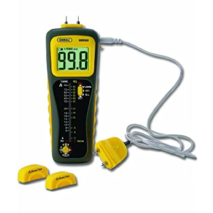 Budget Price General Tools & Instruments MMD900 Pin and Pinless Deep Sensing Moisture Meter with Remote Probe
