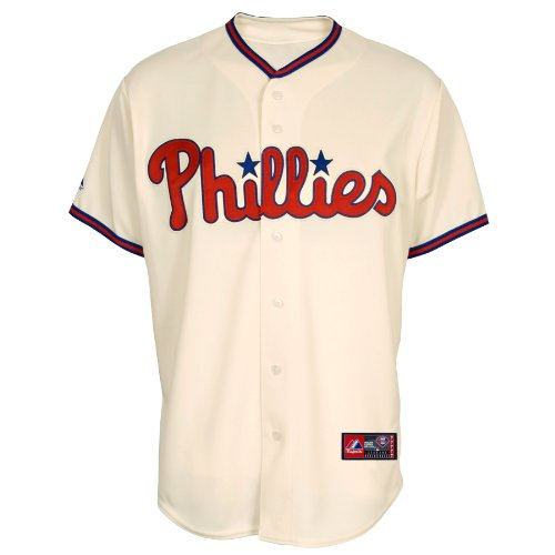 MLB Philadelphia Phillies Alternate Replica Jersey, Ivory, XX-Large at Amazon.com