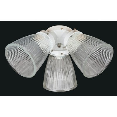 3 Light Ceiling Fan Light Kit Finish: White