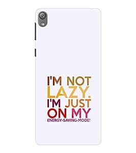 EPICCASE Not lazy Mobile Back Case Cover For Sony E5 (Designer Case)