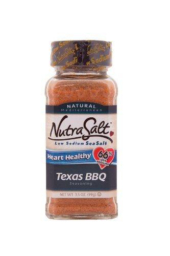 NutraSalt Texas BBQ, 3.5-Ounce Containers (Pack of 6)