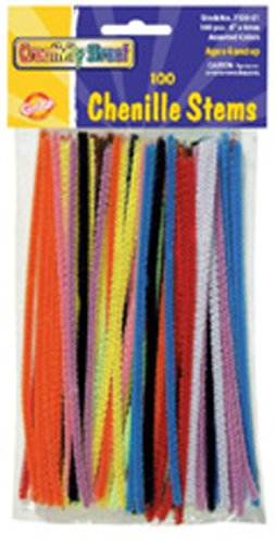 Chenille Stems Assorted 6+ Stems -- Case of 23