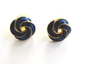 Cléofée - SBD - Boucles d'oreilles - Plaqué or - Email bleu