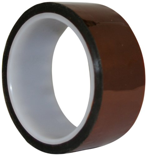 "Maxi 825 Polyamide Film Electrical Tape With Silicone Pressure Sensitive Adhesive, 1/2 Mil Thick, 36 Yds Length, 5/8"" Width, Amber"