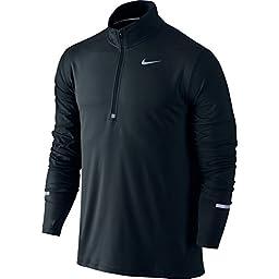Men\'s Nike Dry Element Running Top Black Size Large