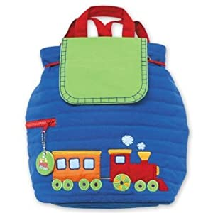 Stephen Joseph Quilted Backpack, Train