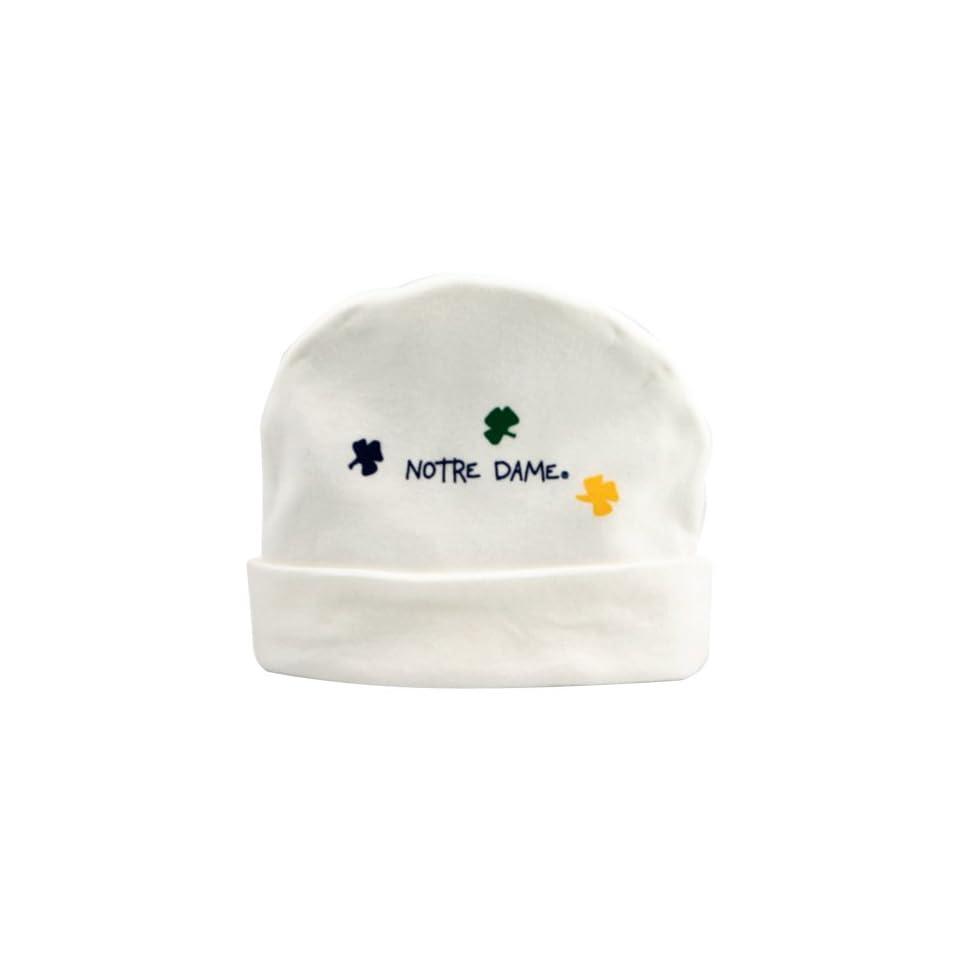 Notre Dame Fighting Irish White Infant Clover Knit Beanie