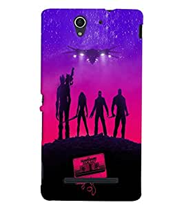 Printvisa Vector Aliens Pic Back Case Cover for Sony Xperia C3 Dual D2502::Sony Xperia C3 D2533