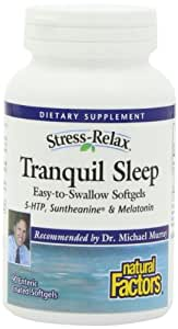 Natural Factors Stress-Relax Tranquil Sleep Enteric Softgels, 90-Count