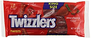 Twizzlers Twists, Strawberry, 5-Ounce Packages (Pack of 15)