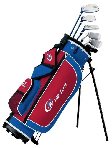 Top Flite XLJ Junior 10-Piece Golf Club Set (5-8 Years Old, Right Hand)