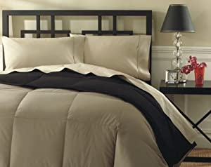 DOWN COMFORTER TWO-TONE COLOR, Twin 68x86, Black / Grey