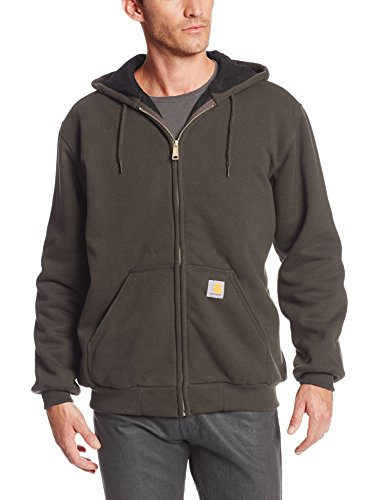 Carhartt Rutland Thermal-Lined Hooded Zip-Front Sweatshirt, Dark Brown, XXXX-Large (Insulated Carhartt Hoodie compare prices)