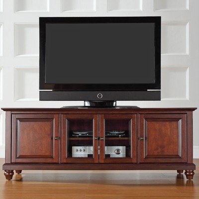 Crosley Furniture Cambridge 60-Inch Low Profile TV Stand, Vintage Mahogany