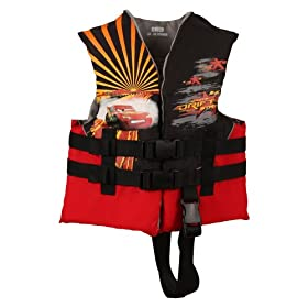 Disney Cars Child Life Jacket (Red/Black, 30 - 50-Pound)
