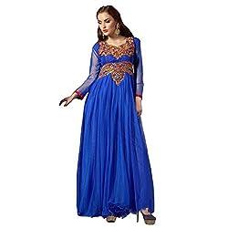 KALYANNAM BLUENet embroidery DRESS MATERIALS