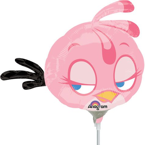 "14"" Airfill Only Angry Birds Pink Bird Balloon"