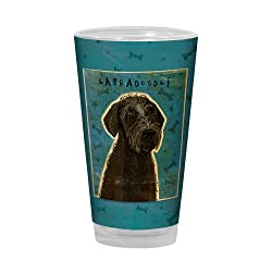 Tree-Free Greetings PG03033 John W. Golden Artful Alehouse Pint Glass 16-Ounce Black Labradoodle