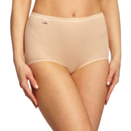 Sloggi - Braguita high rise para mujer, pack de 3, color Beige (Poudre), talla ES : 50, UK : 20
