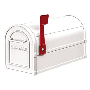 Salsbury Industries 4850WHT Heavy Duty Rural Mailbox, White