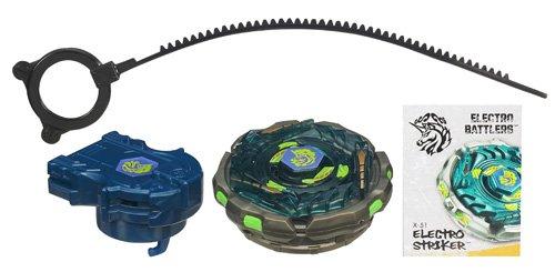 Hasbro Beyblade XTS Beyblade electrónicas Striker - Peonza electrónica con lanzador, color negro