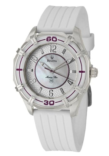 Bulova  Women's 96L144 Solano Marine Star Rubber Watch
