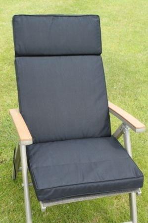 UK-Gardens Schwarz Garten Möbel Großer Sitz und Lehnstuhl Arm stuhl Polsterung – nur Polsterung – Wechselbarer Bezug – Nutzung in Haus oder Garten online kaufen