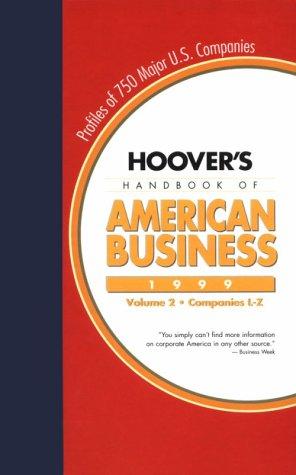 Hoover'S Handbook Of American Business 1999 front-471464