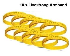 10 x Original Livestrong Armband incl. $1 Krebshilfe Nike XXL ADULT / Herren