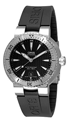 Oris Men's 73375334154RS TT1 Diver Black Rubber Strap Watch
