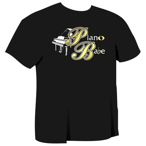 Piano Babe - Music T Shirt - 5yrs to 6XL - 9 Colours - MusicaliTee