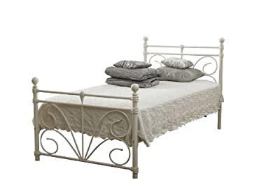 Sienna Single 3ft Bed Frame In Ivory White (off White)