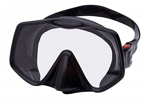 Atomic Aquatics Frameless 2 Mask (Black / Red)