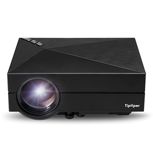 Tiptiper プロジェクター 投影機  LED Video 家庭用 ビジネス 会議用 劇場 パーティー 用小型 便利  (黒)