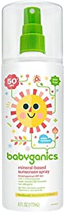 Babyganics Mineral Based Sunscreen Spray, SPF 50+ 6 oz
