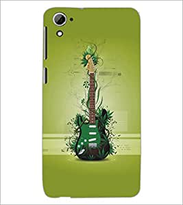 PrintDhaba Guitar D-5483 Back Case Cover for HTC DESIRE 826 (Multi-Coloured)