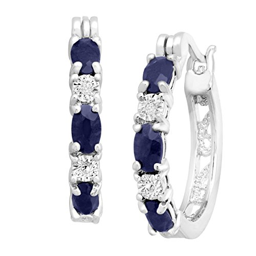 2-110-ct-Natural-Sapphire-Hoop-Earrings-with-Diamonds-in-Platinum-over-Brass-875