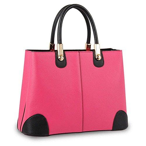 koson-man-cabas-pour-femme-rose-rouge