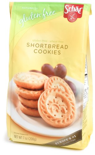 Schar Naturally Gluten-Free Shortbread Cookies, 7-Ounce Bags (Pack of 6)